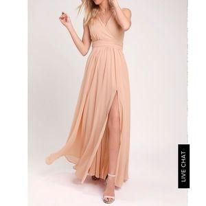Lulu's Blush Formal Dress Size Small